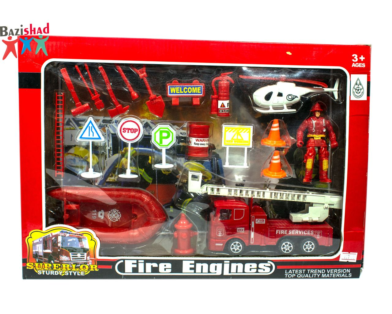 اسباب بازی ایستگاه آتش نشانی fire engines
