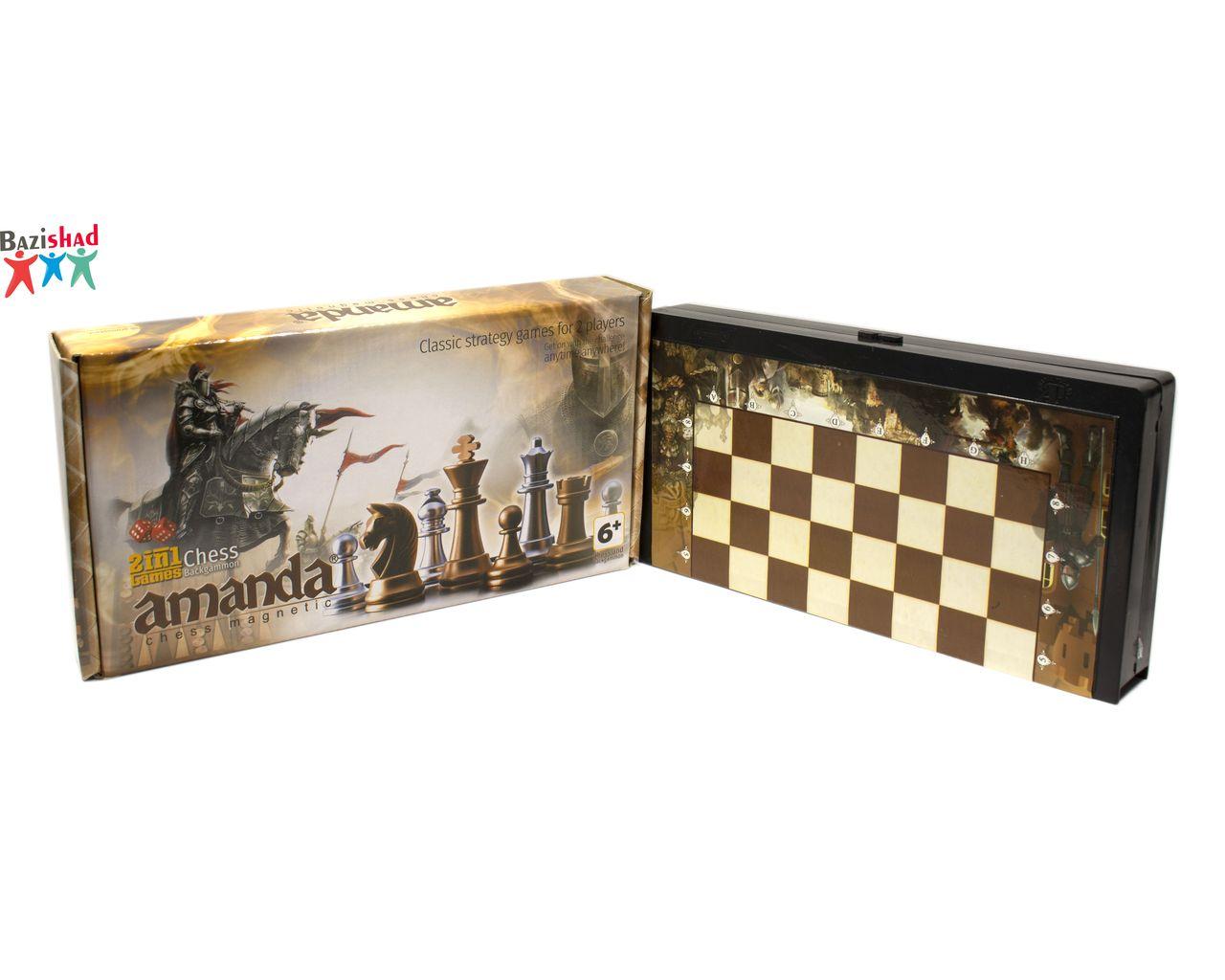 شطرنج مغناطیسی و تخته نرد ساده